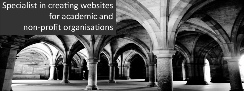 Specialist in webdesign for academic and non-profit organisations